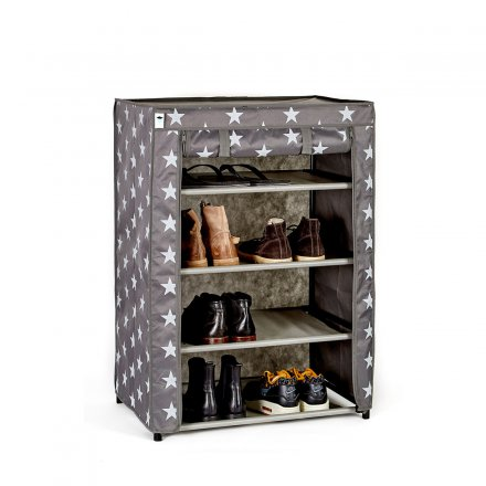 Store.It Textile-Shoe Cabinet Stars gray