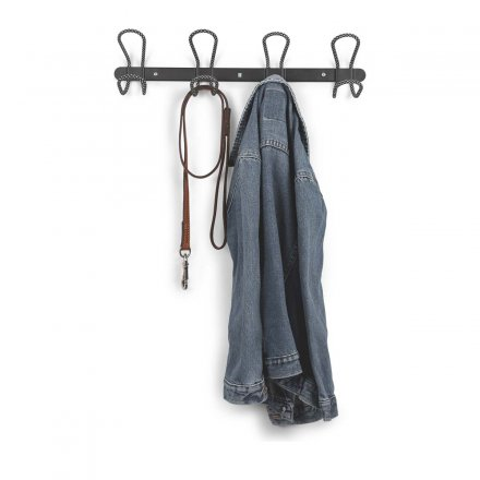 Coatrack Lasso 4 Hooks, black