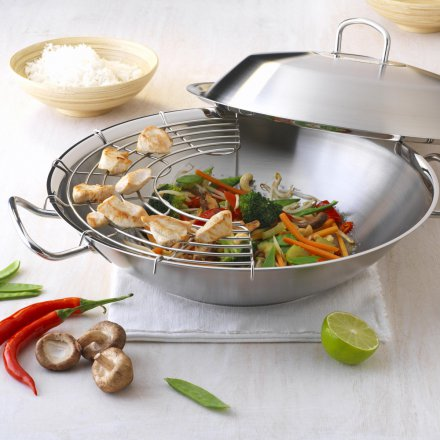 Fissler original pro collection Wok with Metal Lid