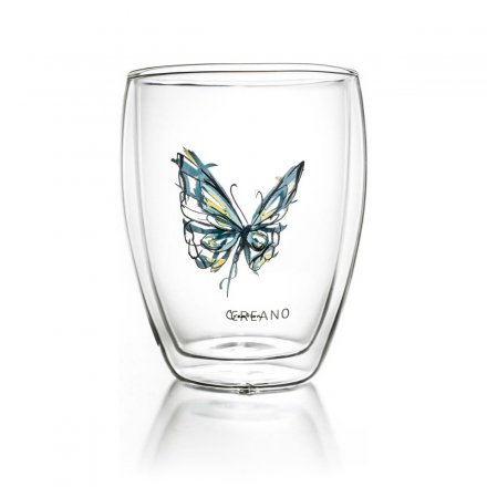 Creano Thermo-Glass Mugs Colourfly Set of 3