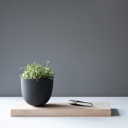 Menu Grow Pot with Wooden Board