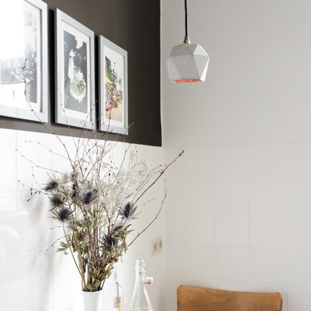 Pendant Lamp Concrete Hexagon