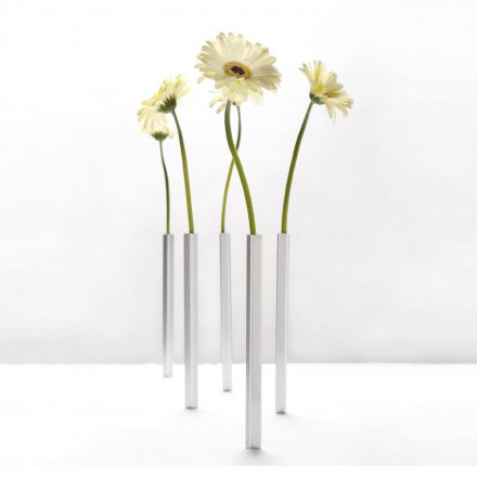Peleg Design MAGNETIC VASE 5er-Set silber