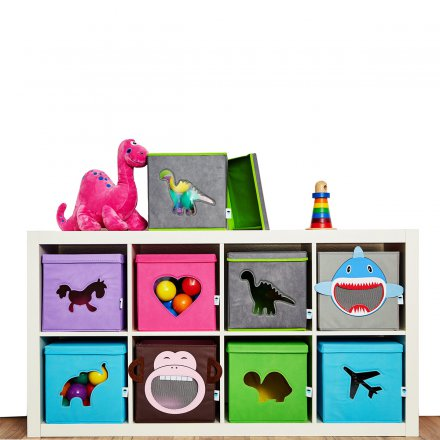 Store.It Toy Box Dinosaur gray / green