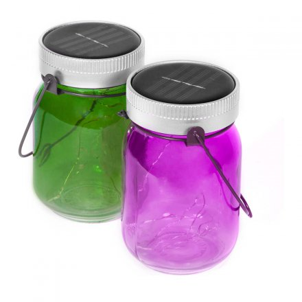 Thumbs Up Solar Fairy Jars Set of 2