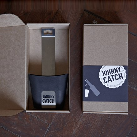 Johnny Catch Bottle Opener with Catch-Cup