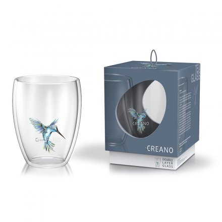 Creano Thermo-Glass Mug Hummi blue